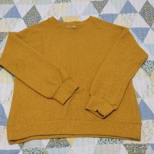 Zara Trafaluc Loose Fit Cozy Sweater, S, Mustard
